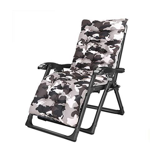 WSDSX Silla Plegable reclinable portátil Plegable reclinable, reclinable para Patio al Aire Libre de Gravedad Cero Silla de Camping para césped de Playa con reposabrazos de Masaje y reposacabezas BEA