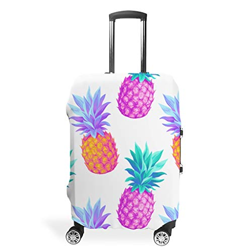 Zhcon Bagagehoes Hoes Wasbaar Spandex Bagage Koffer Cover Protector Stofdichte Anti-Dief Bagage Covers Ananas Fruit Stijl