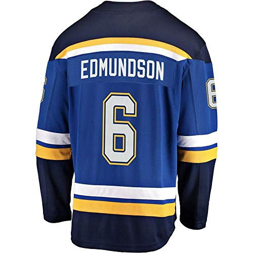 HEMWY mannen/vrouwen/Youth_Joel_Edmundson_#6_Blue_Sportswears_Training_Hockey_Jersey S-XXXL
