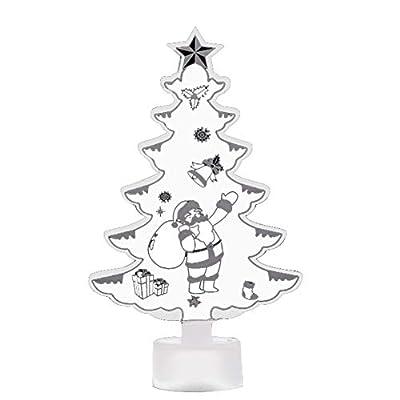 Bluelans Christmas Decorations Sale, Christmas Tree Santa Claus Snowman LED Night Light Home Decor Lamp Xmas Gift Xmas Gifts Christmas Stocking Fillers