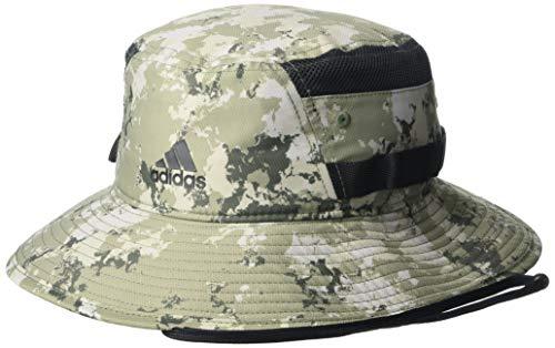 adidas Herren Victory III Bucket Hat Baseball Caps Small World Camo Legacy Grün/Schwarz, L-XL