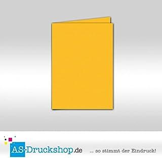 Faltkarte Doppelkarte - Ocker 100 Stück Stück Stück DIN A5 B079515G8D  Erste Qualität 19d3b5