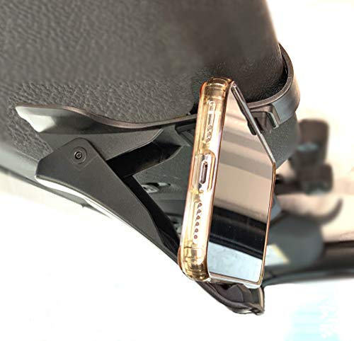 Absolutely Marvelous Smartphone Holder for Sun Visor or Dashboard Clip On Securely Holds Your Phone On The Visor for Easy Viewing of Navigation While Focused On The Road or Clips On to The Dash