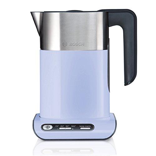 Bosch TWK8619P kabelloser Wasserkocher, Abschaltautomatik, Überhitzungsschutz, Temperaturwahl, Warmhaltefunktion, 1,5 L, 2400 W, lila