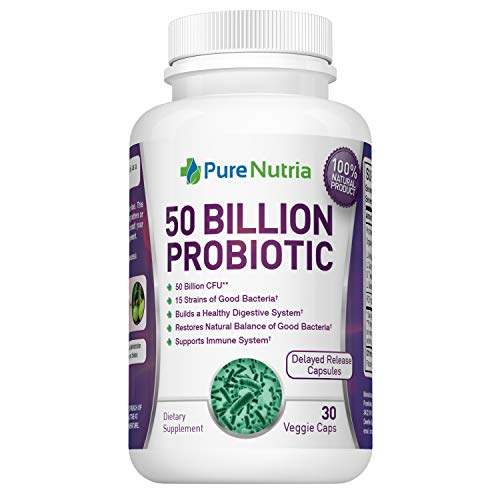 Probiotic Supplement 50 Billion CFU - 15 Strain Dr. Approved Probiotics for Women and Probiotics for Men - Shelf Stable Acidophilus Probiotic Supplement with Prebiotic - 30 Capsules, 1 Month Supply