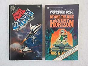 Lot of 2 SIGNED Frederik Pohl GATEWAY & BEYOND THE BLUE EVENT HORIZON Del Rey