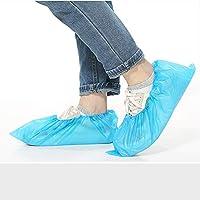 💘【Hochwertiges Material】 Schuhüberzieher besteht aus blau chloriertem Polyethylen, das eine lange Lebensdauer hat und angenehm zu tragen ist. 💘【Wasserdicht und rutschfest】 Überschuh ist wasserdicht und es befinden sich kleine Partikel auf der Oberflä...