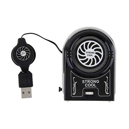 Ballylelly Mini Vacío USB Enfriador Extractor de Aire Ventilador de enfriamiento Enfriador Soporte para portátil Accesorios para computadora portátil Periféricos para computadora