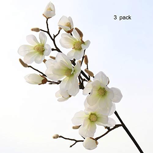 Sarazong Artificielle Fleur De Magnolia, Longue Branche Étage Arrangement De La Fleur Décoration Salon Ameublement Faux Fleur Artificielle Fleur Everlasting,B
