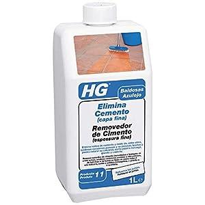 HG 101100130 Elimina cemento (capa fina) 1 L – el eliminador de lechada para todo tipo de baldosas y losetas, 1000 ml