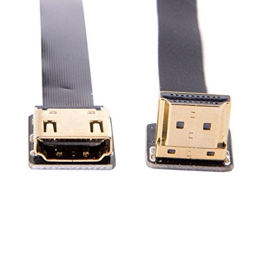 cablecc cyfpv bis Winkel 90Grad HDMI Männlich Zu Weiblich FPC flach Kabel für HDTV Multicopter Aerial Photography 20cm