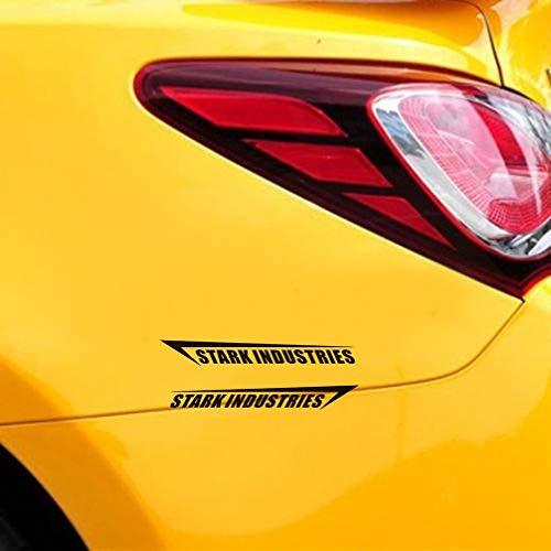 etiqueta de la pared Stark Industries Iron Man Stark Industry decoración del cuerpo pegatinas de coche para coche portátil ventana pegatina