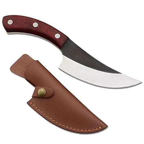 Cuchillo de cocina forjado 5.5 pulgadas de piel de deshuesar camping Serbia Cuchillo hecho a mano lleno de la espiga en rodajas la cocina del cocinero del carnicero cuchillo del regalo de la envoltura