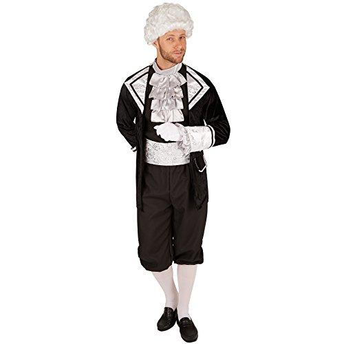 TecTake dressforfun Herrenkostüm Barock GRAF | Barock-Kostüm | Inkl. Strümpfe und Taillentuch (S | Nr. 301399)