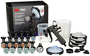 3M Performance Spray Gun Starter Kit, 26778, Includes PPS 2.0 Paint Spray Cup System, 15 Replaceable Gravity HVLP Atomizing Heads, Air Control Valve