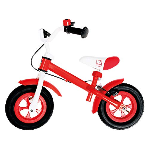 Bino Metallaufrad Rot, bicicletta Unisex-Baby, 10'