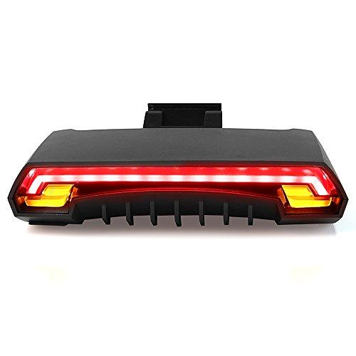 Leaning Tech LTC Set di luci LED per bicicletta, USB, impermeabili, con fanalino di coda, intensità luminosa 85,con telecomando, per Ciclismo e attività all'aria aperta
