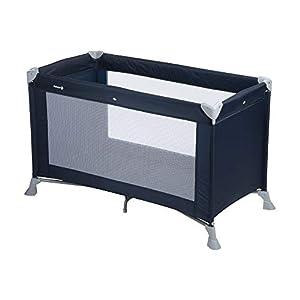 Safety 1st Soft Dreams Cuna de viaje plegable y portátil, adecuada para viajar, para bebés y niños 0 meses - 3 años, plegado compacto con bolsa de transporte, color Blue