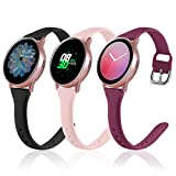 (3 Pack) Vcegari Slim Band for Samsung Active 2 Watch 40mm 44mm,...