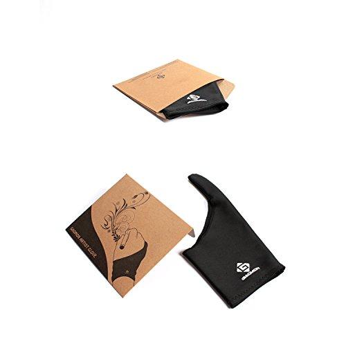 GAOMON EIN-Finger Frei Größe Antifouling Küstlerishe Zeichnen Schwarze Lycra Handschuh für Grafiktablett Stift Display und Leuchttisch