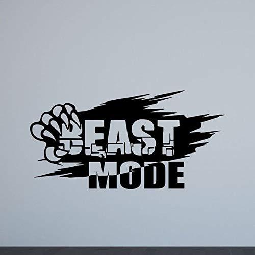 Beast Pattern Wandtattoo Gym Poster Sport Inspirierende Zitate Inspiration Vinyl Aufkleber Gewichtheben Fitness dekorative Aufkleber30x58cm