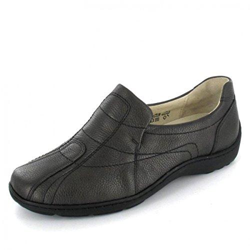 Waldläufer Damen Slipper Schuhe Henni Slate 37 EU Schuhweite H = Für den etwas kräftigeren Fuß