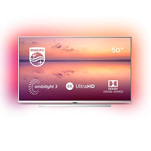 Philips 50PUS6814/12 50-inch 4K UHD Smart TV with Ambilight, HDR 10+, Dolby Vision, Dolby Atmos, Alexa Built-in - Silver (2019/2020 Model)