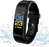 Montre Connectée, Smart Fitness Bracelet Cardiofréquence mètre, Trackers d'activité, Podometre Marche Montre Intelligente Etanche IP67 Montre connectée Femme Homme Enfant Agée pour Android iOS