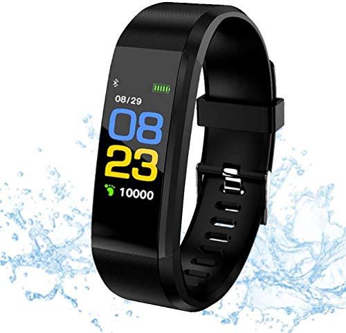 Montre Connectée, Smart Fitness Bracelet Cardiofréquence mètre, Trackers d'activité, Podometre Marche Montre Intelligente Etanche IP67 Montre...