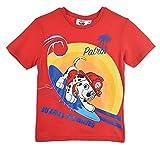 Paw Patrol Nios Camiseta De Manga Corta (Roja,3 aos)