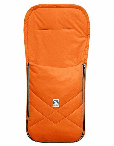 HEITMANN Baby Sommer Fußsack mit Baumwolle orange, waschbar, für Kinderwagen, Buggy, ca. 94x42 cm