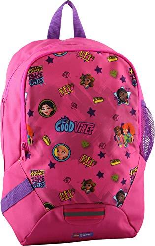LEGO Bags Schulrucksack, Rucksack nur 350 g, Schultasche mit Lego Friends Motiv Good Vibes, Schul-Rucksack ca. 40 cm, 16.5 Liter