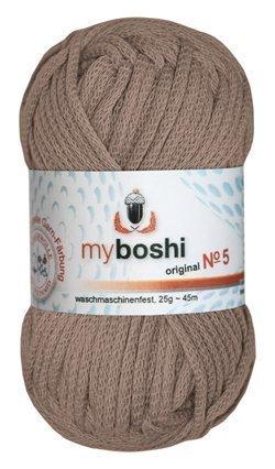 Myboshi No. 5, Farbe 572 ocker, 25g Knäuel, Sommerwolle, häkeln, Seelengarn, 57% Baumwolle und 43% Polyamid, Trendwolle, Häkel- & Strickgarn