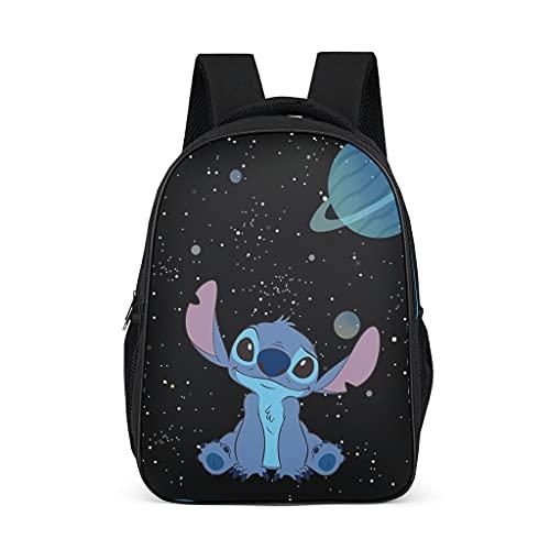 Stitch Planet - Mochila para niños, duradera, para libros escolares, para niños y adultos, regalo para niños y niñas