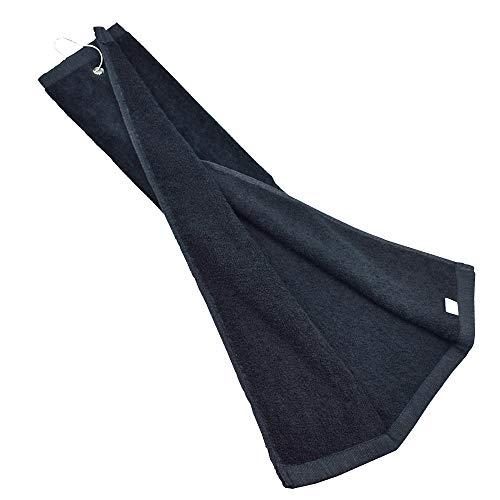 Toalla de Golf con Ojal de Clip Tela de Felpa de algodón para Bolsa de Golf, 16 x 23,6 Pulgadas