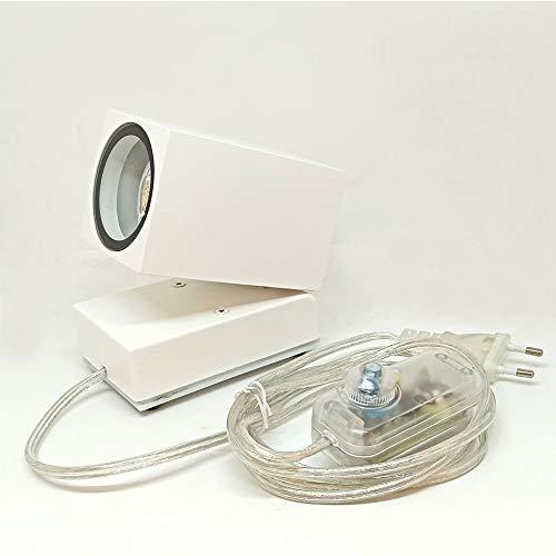 LEDart LED-Strahler, 8 W, dimmbar, zum Aufstellen für Tafel und Objekte, schwenkbar, warmweiß, 3000 K, 800 lm, schmales Winkel, 10° / 200 - 240 V, 50 / 60 Hz (weiß)