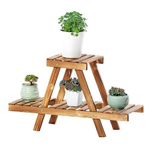 FL- Type de plancher en bois massif Support de fleurs multi-couches Balcon Salon de fleurs