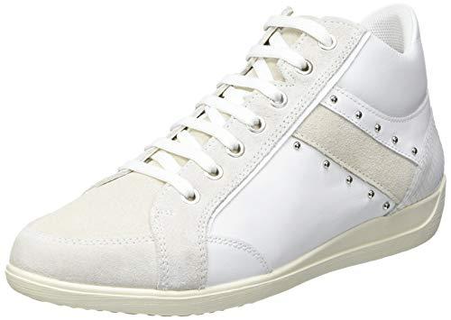 Geox D Myria G, Scarpe da Ginnastica Donna, White off White, 39 EU
