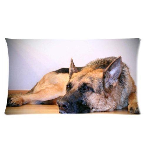 Dana34MaloryCute Pet Doggy Duitse herder hond Diy gepersonaliseerde kussensloop hotsale voor kinderen 20x30 inch
