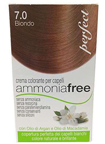 Perfect Ammonia Free, Tinta Professionale Per Capelli Colorazione Biondo SENZA AMMONIACA, SENZA RESORCINA, SENZA PARAFENILDIAMINA, SENZA CONSERVANTI, SENZA SILICONI, Made in Italy (8.0 Biondo Chiaro)