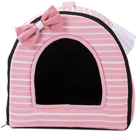 Soul hill Bett für Katzen und kleine mittelgroße Hunde Welpen Weiches Haustier Nest Schlafsack Haus