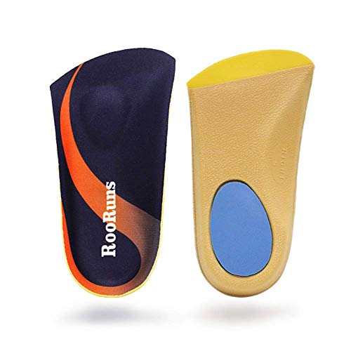 Orthotic Inserts 3/4 Length, Plantar Fasciitis Insoles with Metatarsal Pads Heel Cushion for Men and Women, High Arch Support Shoe Inserts for Flat Feet, Overpronation, Walking Running, M