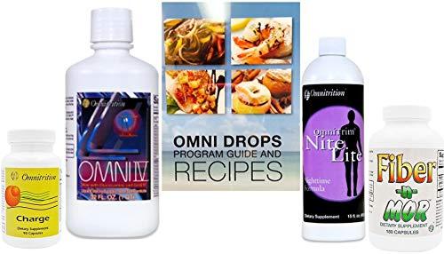 Omni Drops with Vitamin B12, Nite Lite, Fiber N Mor, Omni 4 with Glucosamine, Charge Capsules with Caffeine by Omnitrition