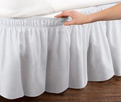 Faldón para la cama, elástico, de Badass Sharks, algodón, Blanco, 150 x 200cm