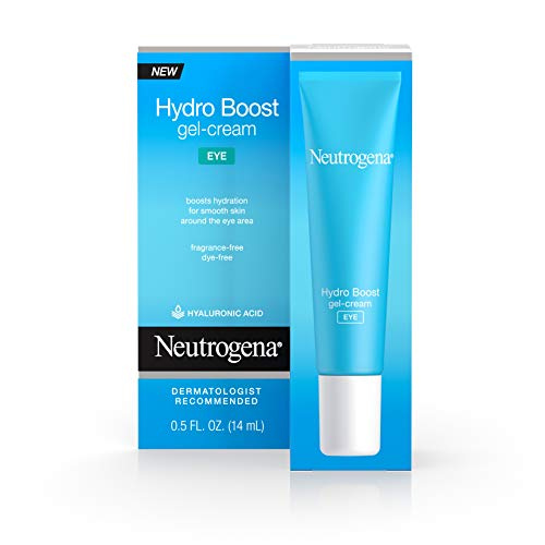 41fNWDUH2RL - Neutrogena Hydro Boost Hydrating Gel Eye Cream with Hyaluronic Acid, Dermatologist Recommended, Oil and Fragrance Free, 0.5 fl. oz