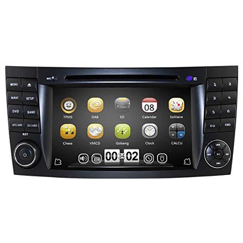 Reproductor Multimedia para Coche de 7 Pulgadas 2 DIN Radio Reproductor de DVD para Mercedes-Benz E-Class W211 / G-Class W463 / CLK-Class W209 / CLS-Class W219 Soporte Mirror Link Bluetooth RDS Radio