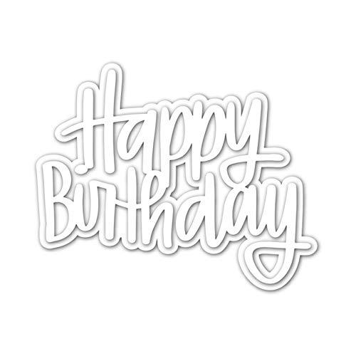 Alles Gute zum Geburtstag Stanzmaschine Stanzschablone, Scrapbooking Prägeschablonen Stanzformen Schablonen Für Scrapbooking, Fotopapier, Karten, Handwerk Prägen DIY Herstellung Geburtstag Geschenk