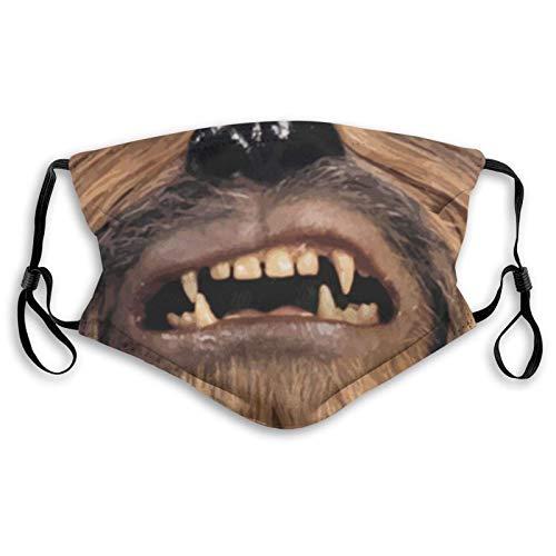 LREFON Mundschutz Gesichtsschutz Balaclava Cover Wookie Mund Schal Wiederverwendbarer Bandana mit 2 Filtern