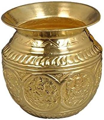 Nutristar Golden Pooja Lota | Puja Lota | Pooja lota Handcrafted Ashta Laxmi | Puja Lota Water Capacity = 500ml