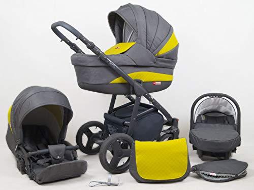 Cochecito de bebe 3 en 1 2 en 1 Trio Isofix silla de paseo Marley by SaintBaby Sun Yellow 3in1 con Silla de coche